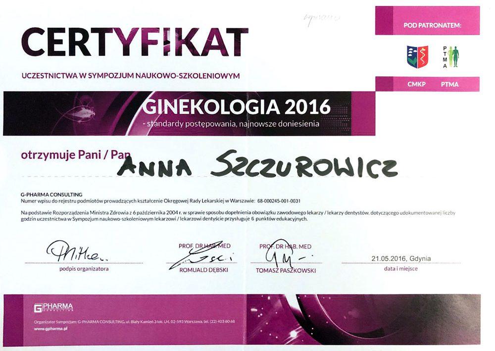 certyfikat-ginekologia-2016